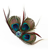 Lillian Rose® Peacock Hair Clip