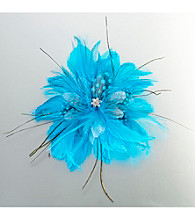 Lillian Rose® Aqua Feather Hair Clip