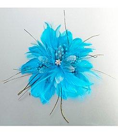 Lillian Rose® Aqua Feather Hair Clip