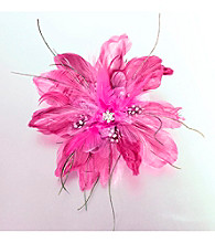 Lillian Rose® Hot Pink Feather Hair Clip