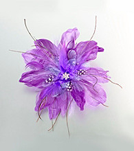 Lillian Rose® Purple Feather Hair Clip