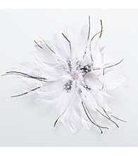 Lillian Rose® White Feather Hair Clip