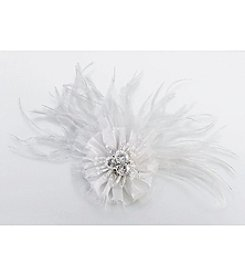 Lillian Rose® White Marabou Feather Hair Clip