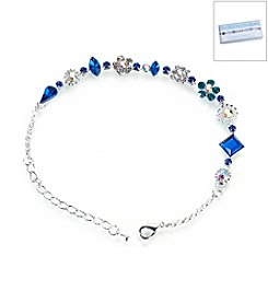 Lillian Rose® Silver Something Blue Anklet