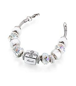 Lillian Rose® Silver Bride Charm Bracelet