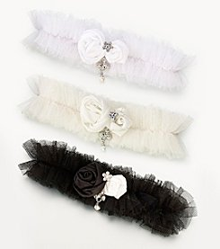 Lillian Rose® Tulle Garter with Jewel