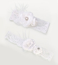Lillian Rose® White Vintage Garter