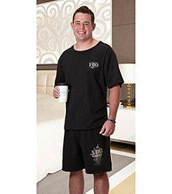 Lillian Rose® Grooms Black Pajama Set