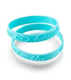 Lillian Rose® Set of 18 Aqua Shower Bracelets