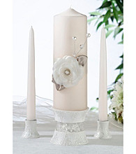 Lillian Rose® Taupe Rose Candle Set