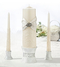 Lillian Rose® Lace Taper and Candle Set