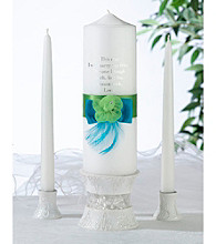 Lillian Rose® Blue and Green Candle Set