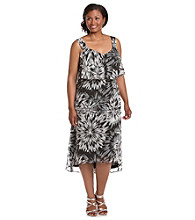 Black Rainn™ Plus Size High-Low Printed Dress