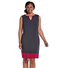 AGB® Plus Size Colorblock Dress