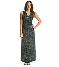 Relativity® Empire Braided Print Maxi Dress