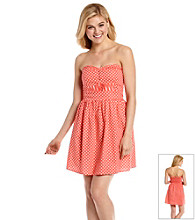 Be Bop Juniors' Strapless Polka Dot Sundress