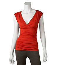 A. Byer Juniors' Ruched Top
