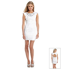 XOXO® Juniors' Jeweled Sheath Dress