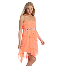 XOXO® Juniors' Tiered Dress with Jewels
