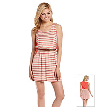 Pink Rose® Juniors' Striped Challis Dress