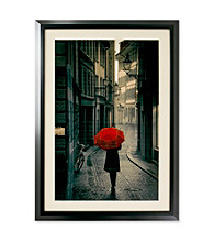 Star Creations Red Rain Framed Artwork