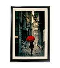 Star Creations Red Rain Framed Artwork