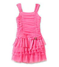 Amy Byer Girls' 4-6X Pink Sleeveless Drop Waist Dress