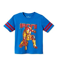 Marvel® Boys' 4-7 Blue Short Sleeve Iron Man Tee
