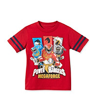 Power Rangers Boys' 4-20 Red Short Sleeve Megaforce Tee