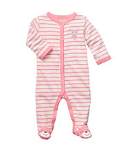 Carter's® Baby Girls' Coral/White Striped Footie