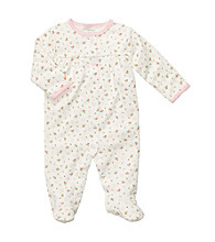 Carter's® Baby Girls' Ivory Rose Print Footie