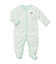 Carter's® Baby Girls' Mint/White Striped Mouse Footie