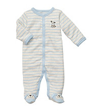Carter's® Baby Boys' Grey/Blue Striped Puppy Footie