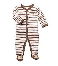 Carter's® Baby Boys' Brown/Ivory Striped Monkey Footie