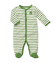 Carter's® Baby Boys' Green/White Striped Frog Footie