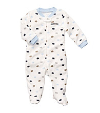 Carter's® Baby Boys' Ivory/Blue Elephant Print Footie
