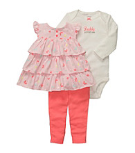 Carter's® Baby Girls' Pink 3-pc. Ruffle Tunic Set