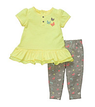 Carter's® Baby Girls' Yellow/Grey 2-pc. Butterfly Tunic Set