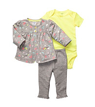Carter's® Baby Girls' Heather Grey 3-pc. Cardigan Set