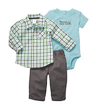Carter's® Baby Boys' Blue 3-pc. Woven and Pants Set