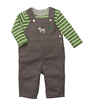 Carter's® Baby Boys' Grey/Green 2-pc. Overalls Set