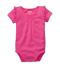 OshKosh B'Gosh® Baby Girls' Fuchsia Cap Sleeve Bodysuit