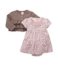 Carter's® Baby Girls' Pink/Brown 2-pc. Leopard Print Dress Set