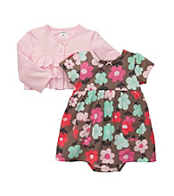 Carter's® Baby Girls' Pink/Brown 2-pc. Floral Dress Set