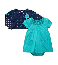 Carter's® Baby Girls' Blue 2-pc. Heart Print Dress Set