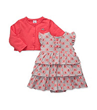 Carter's® Baby Girls' Coral/Grey 2-pc. Butterfly Dress Set