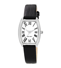 Nine West® Women's Black Strap Watch
