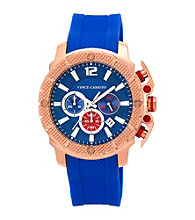 Vince Camuto™ Men's Blue Rose Goldtone Silicon Strap Watch
