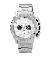 Vince Camuto™ Men's White Silvertone Bracelet Watch