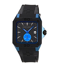 Vince Camuto™ Men's Black Blue Resin Strap Watch
